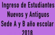 Ingreso de estudiantes 2018
