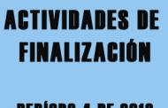 ACTIVIDADES DE FINALIZACIÓN DEL CUARTO PERÍODO 2018