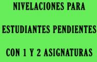 Nivelaciones Finales grados Sexto, Séptimo, Octavo, Noveno, Décimo y Undécimo 2018