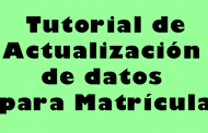 Actualización de Datos Matrícula de Estudiantes
