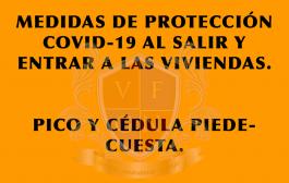 Medida de Prevención al Salir y entrar a la Vivienda-Pico y Cédula Piedecuesta