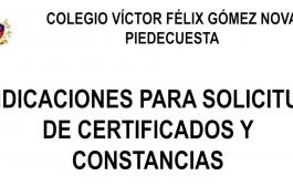 Proceso de Solicitud de Constancias y Certificados