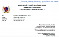 Informe de Gestión Académica y Disciplinaria Mayo 6 de 2020