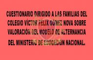 ENCUESTA A LOS PADRES DE FAMILIA RESPECTO AL MODELO DE ALTERNANCIA DEL MEN