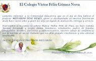 Condolencias de colegas y amigos por el fallecimiento del Docente Medardo Díaz Reyes