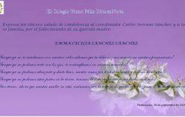 Condolencias por el fallecimiento de la madre del Coordinador Carlos Serrano.