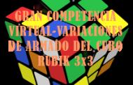 PARTICIPACIÓN DE LA COMPETENCIA VIRTUAL-VARIACIONES DE ARMADO DEL CUBO RUBIK 3x3