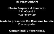 In Memoriam-Mario Sequera Albarracín Noviembre 30 2020