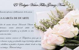 Condolencias por el fallecimiento de la madre del docente Hernando Eliecer Duarte García