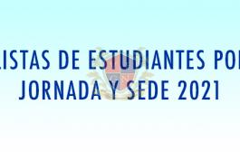 LISTAS DE ESTUDIANTES CON DIRECCIONES DE GRUPO 2021