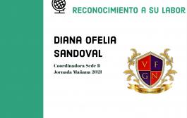 RECONOCIMIENTO A LA COORDINADORA DIANA OFELIA SANDOVAL