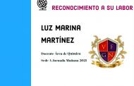RECONOCIMIENTO A LA DOCENTE LUZ MARINA MARTÍNEZ