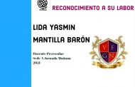 RECONOCIMIENTO A LA DOCENTE LIDA YASMIN MANTILLA BARÓN