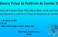 INVITACIÓN A AUDIENCIA DE RENDICIÓN DE CUENTAS 2020