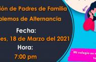 Invitación a Reunión de Padres de Familia – Tema: Hablemos de Alternancia