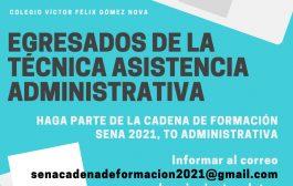 OPORTUNIDAD PARA EGRESADOS DE LA TÉCNICA EN ASISTENCIA ADMINISTRATIVA