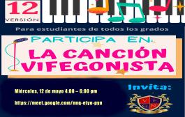 CONVOCATORIA ESTUDIANTES INSCRITOS PARA EL XII FESTIVAL DE LA CANCIÓN VIFEGONISTA 2021