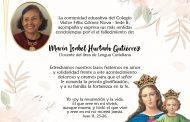 CONDOLENCIAS DE LA SEDE B A LA DOCENTE MARÍA ISABEL HURTADO GUTIÉRREZ