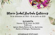 Homenaje Póstumo Docente María Isabel Hurtado Gutiérrez Junio 18 2021
