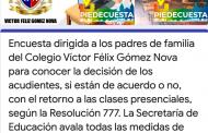 ENCUESTA A PADRES DE FAMILIA RESPECTO A LA DECISIÓN DE ENVIAR O NO SUS HIJOS AL COLEGIO
