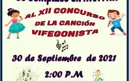 XII Concurso de la Canción Vifegonista – Septiembre 30 – Hora 2:00 pm
