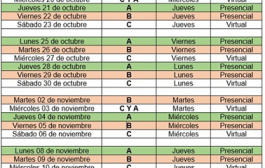 CRONOGRAMA DE CLASES TRIMESTRE 3 2021