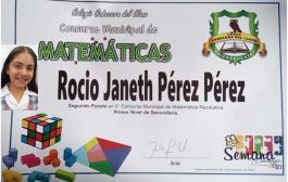 Estudiante se destacá en el Concurso Municipal de Matemáticas